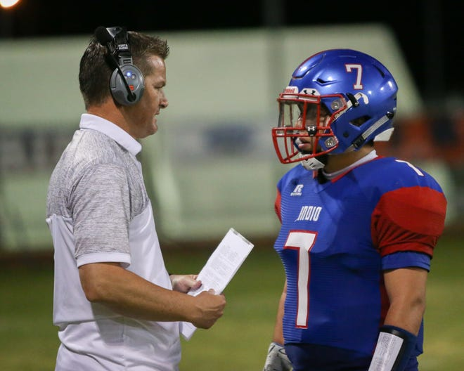 The Indio varsity football team defeated Desert Mirage 22-21 at their home conference game.