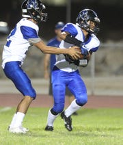 Cathedral City High School runs a play against  Desert Hot Springs'  on September 21, 2018 at DHS.