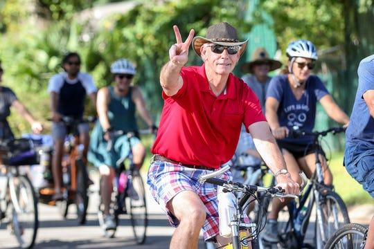 Hundreds of people participate in a past Bike Pensacola Slow Ride. This month ride takes place Friday starting at the Pensacola Public Library.