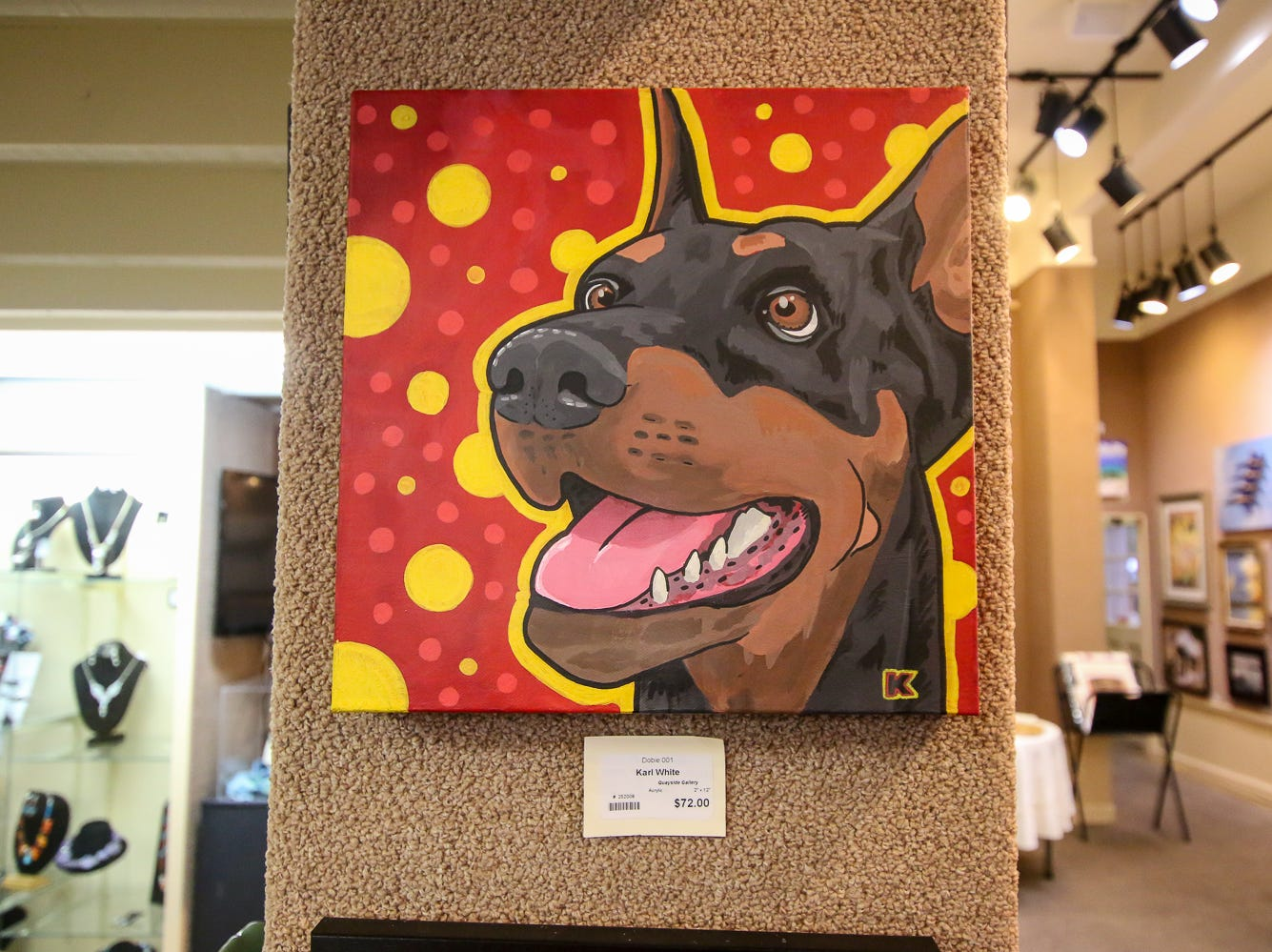 Some of the art on display at Quayside Art Gallery during Gallery Night on Friday, Sept. 21, 2018.