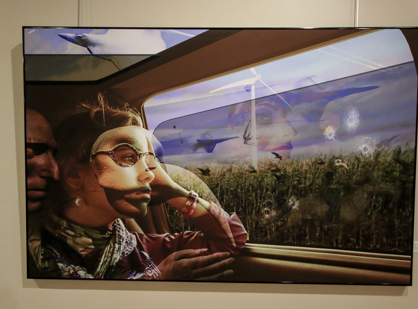 Some of the art on display at Artel Gallery during Gallery Night on Friday, Sept. 21, 2018.