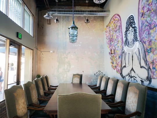 The private dining room at State 48 Brewery in downtown Phoenix.
