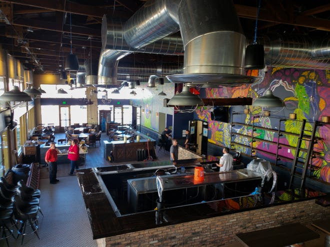 A view from the mezzanine of State 48 Brewery in downtown Phoenix.