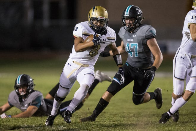 Desert Vista's Tyson Grubbs (pictured) went down in the second half, and was replaced by his brother, Devon.