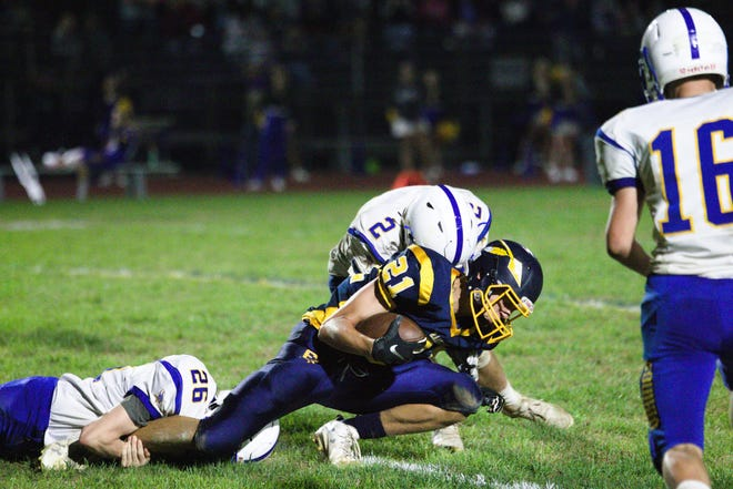 Elijah Herb (21) is one of many who have contributed to Elco's 7-1 start.