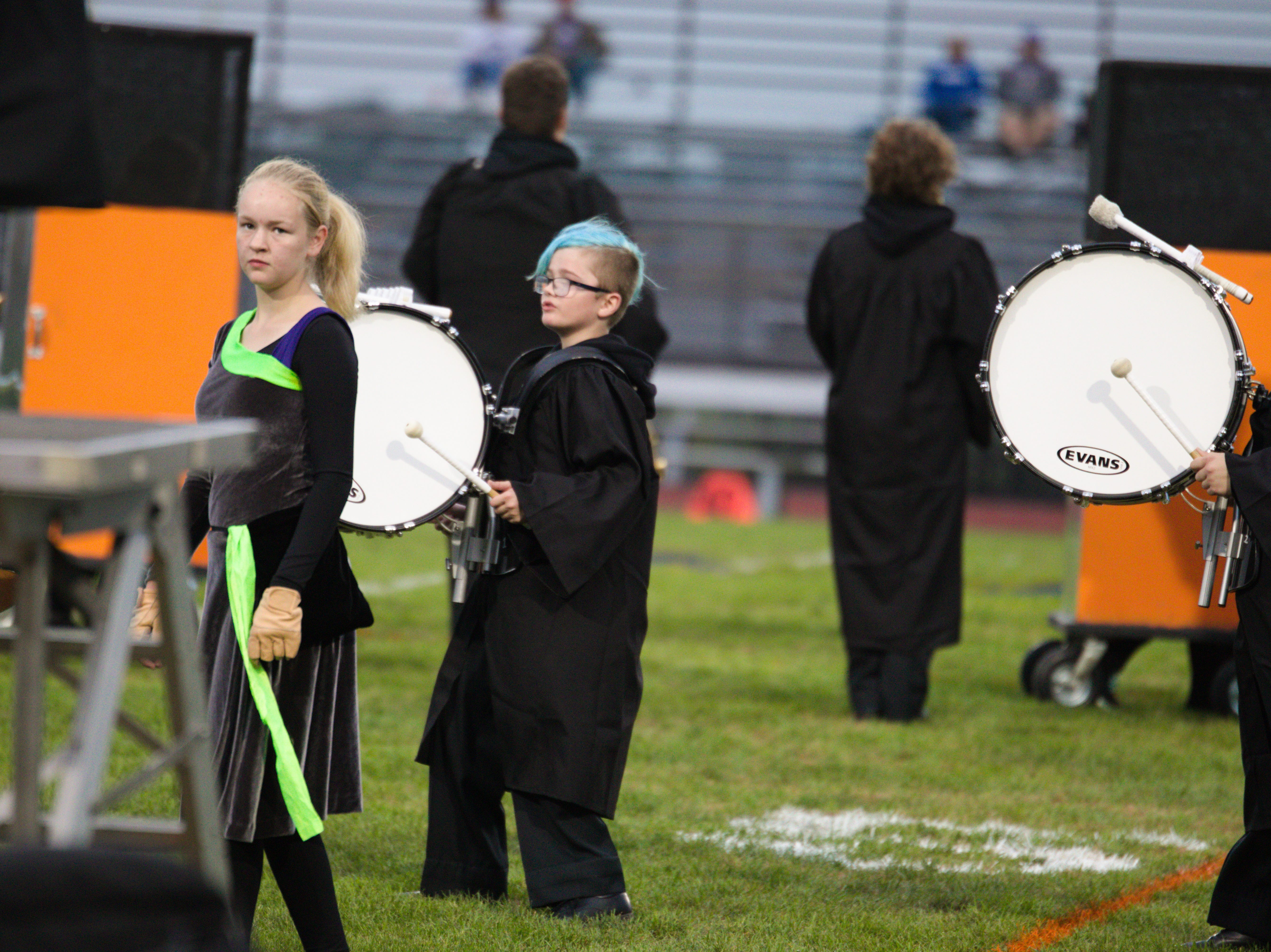 The band performs before last night's Elco-Northern Lebanon football game