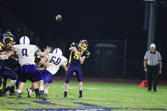 Darian Ulrich threw for two touchdowns in Elco's 19-14 win over Northern Lebanon.