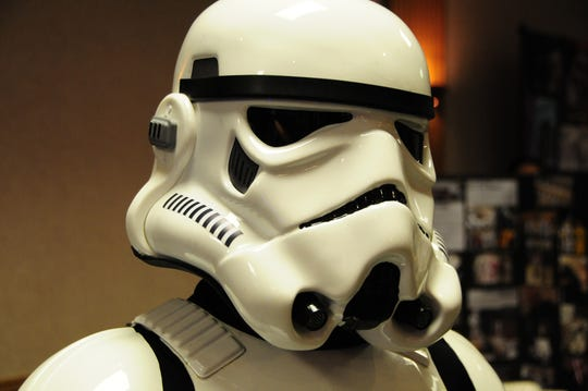 David Gemmete was an Imperial Storm Trooper at the International Marine City Comic  Con on Saturday, Sept. 22, 2018.