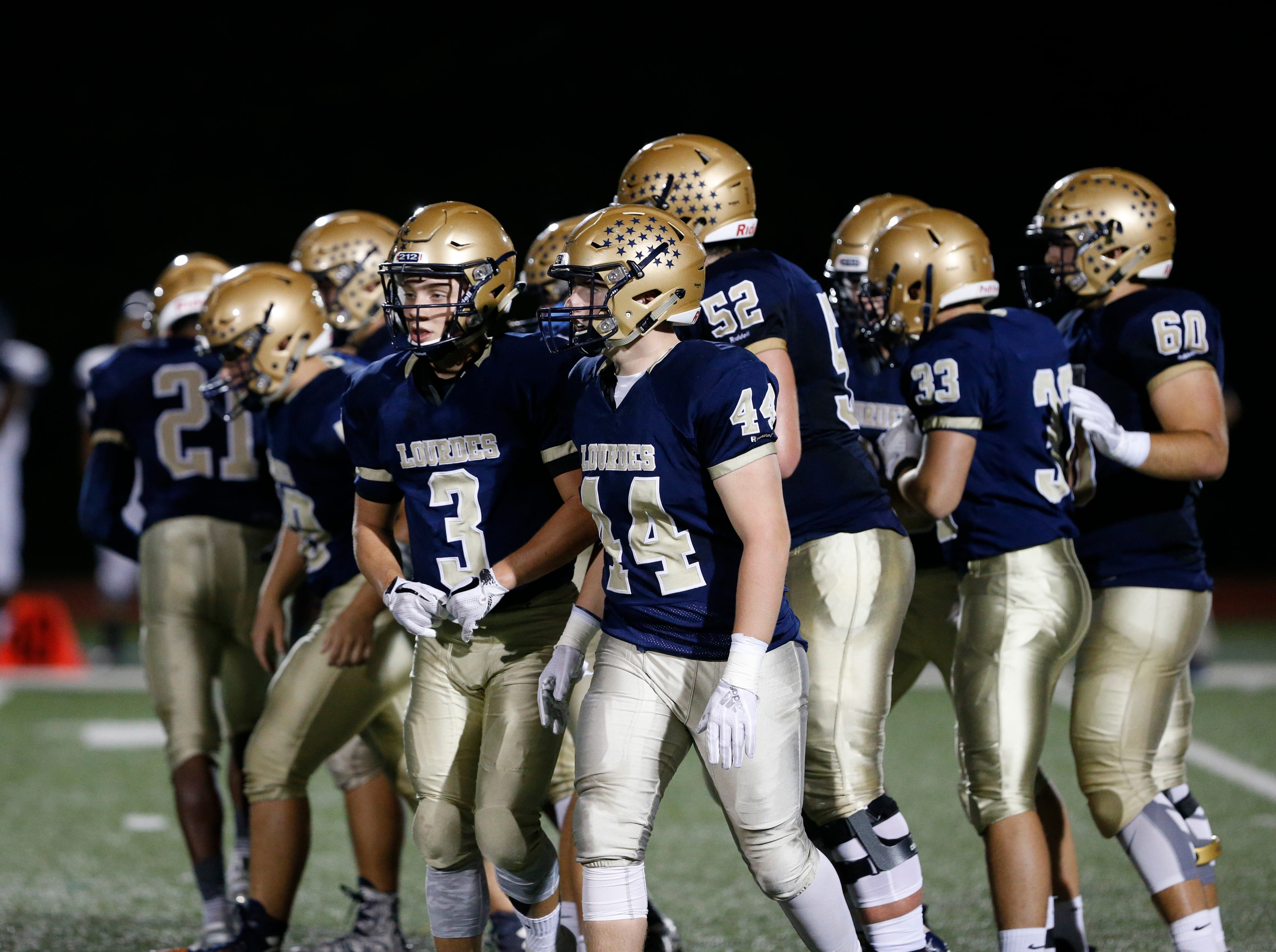 Action from Friday night's game between Our Lady of Lourdes and Walter Panas in the Town of Poughkeepsie on Sept. 21, 2018.