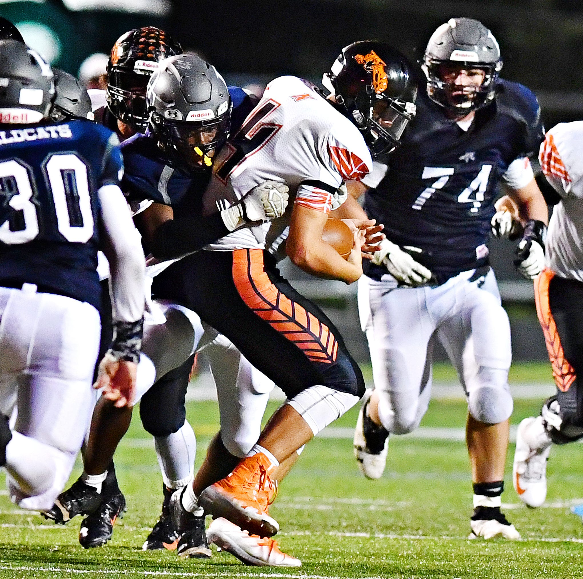 Two-way lineman Raymond Christas 'a monster' for Dallastown High School football team