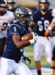 Dallastown's Nyzair Smith runs the ball in for a touchdown during football action against Northeastern at Dallastown Area High School in York Township, Friday, Sept. 21, 2018. Dallastown would win the game 41-25. Dawn J. Sagert photo