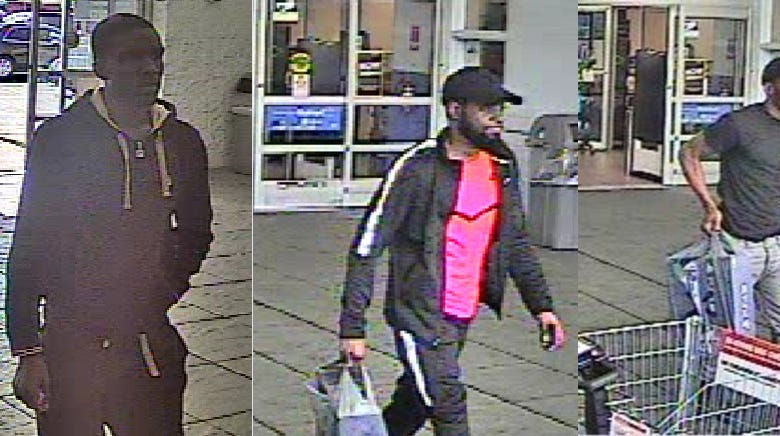 Do you know these men sought in 'fraud/counterfeit currency incident' at Walmart?