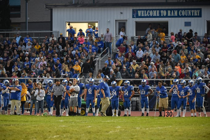 The stands at Kennard-Dale are filled to the brim with spectators watching the Division II football game, Friday, September 21, 2018. The York Suburban Trojans beat the Kennard-Dale Rams 31-25.