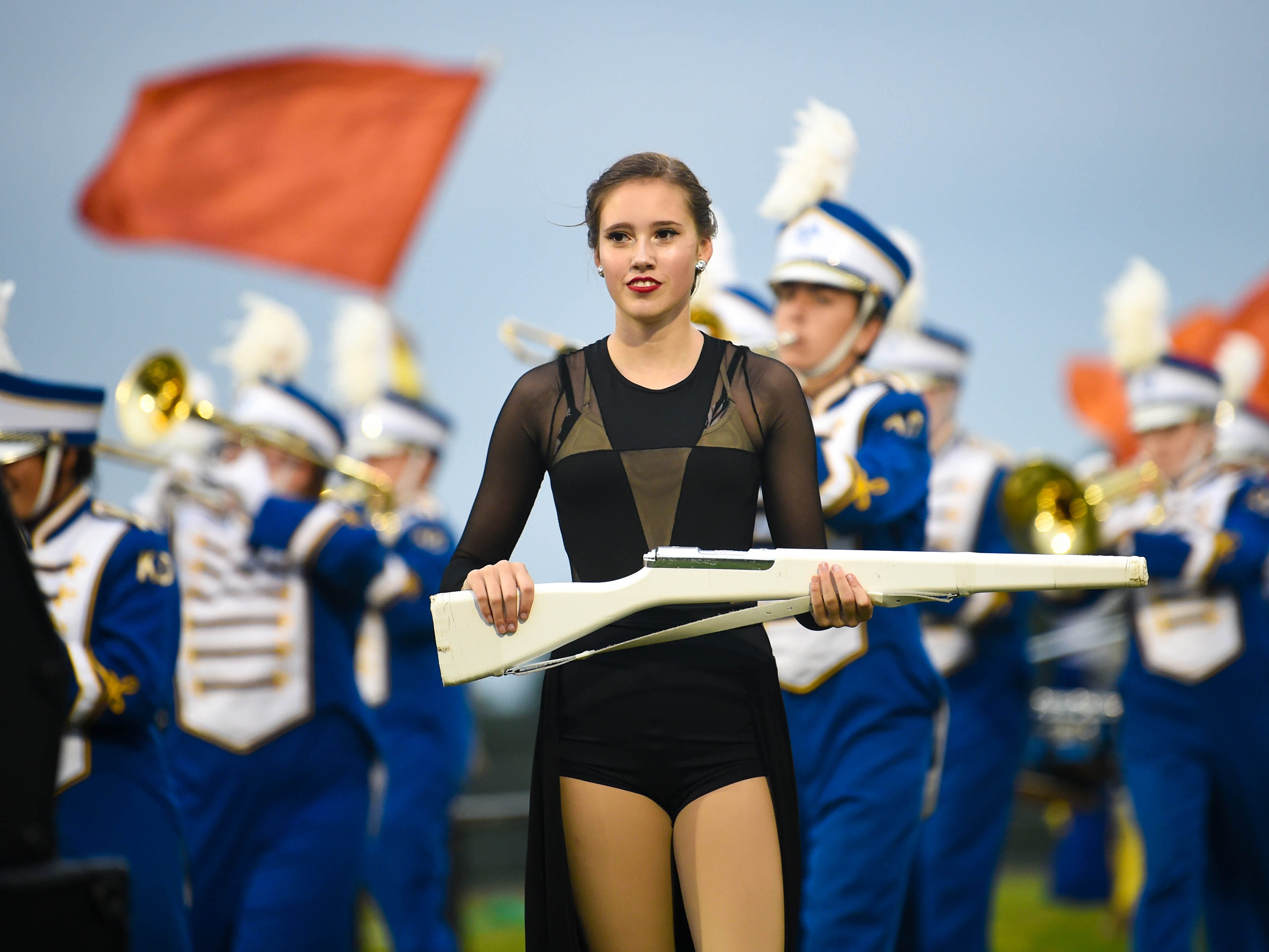 The Kennard-Dale band took the field before the Division II football game against York Suburban started, Friday, September 21, 2018. The York Suburban Trojans beat the Kennard-Dale Rams 31-25.