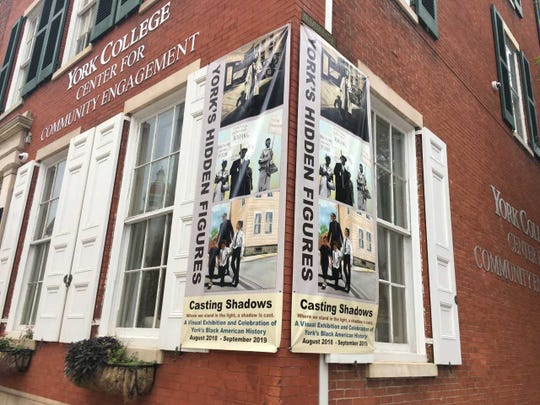 """Ophelia Chambliss' major art exhibit, """"Casting Shadows,"""" was recently at the York College Center for Community Engagement. More than 20 paintings depicted """"York's Black lives from emancipation, through the civil rights movement, into the present conversations."""""""