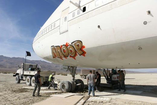 747 airplane from burning man days away from getting home
