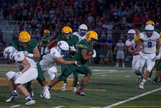 Bishop Manogue beat Reno, 34-14, on Friday night.