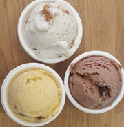 Fall ice cream flavors at Dolce Mama's in downtown Salem.