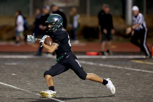 West Salem's Anthony Gould (23) rushes in the first half of the Sheldon vs. West Salem football game at West Salem High School on Friday, Sep. 21, 2018.