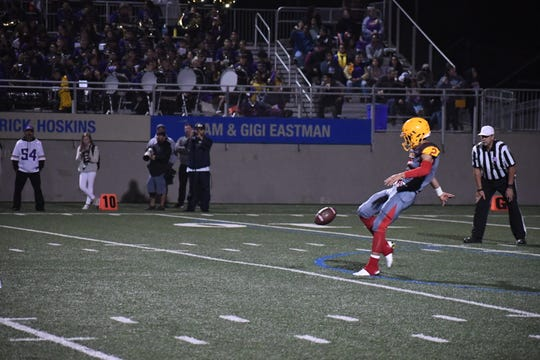Palma senior Mateo Martinez (2) is a well-established shutdown cornerback but his punting prowess could help the Chieftains to victory this week at undefeated Aptos.