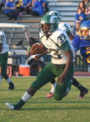Parkside's JaBrontae Mills runs the ball during first half action at the Parkside/Wicomico High School Football game Friday, Sept. 21, 2018 at County Stadium. (Photo by Todd Dudek for The Daily Times)