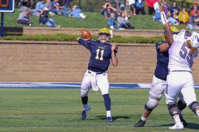 Augustana quarterback Kyle Saddler threw 30 touchdown passes last year.