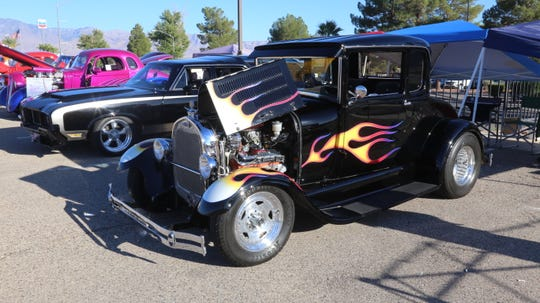 John Santos' 1929 Ford Model A coupe is on display at the Mesquite Super Run on Sept. 21, 2018.