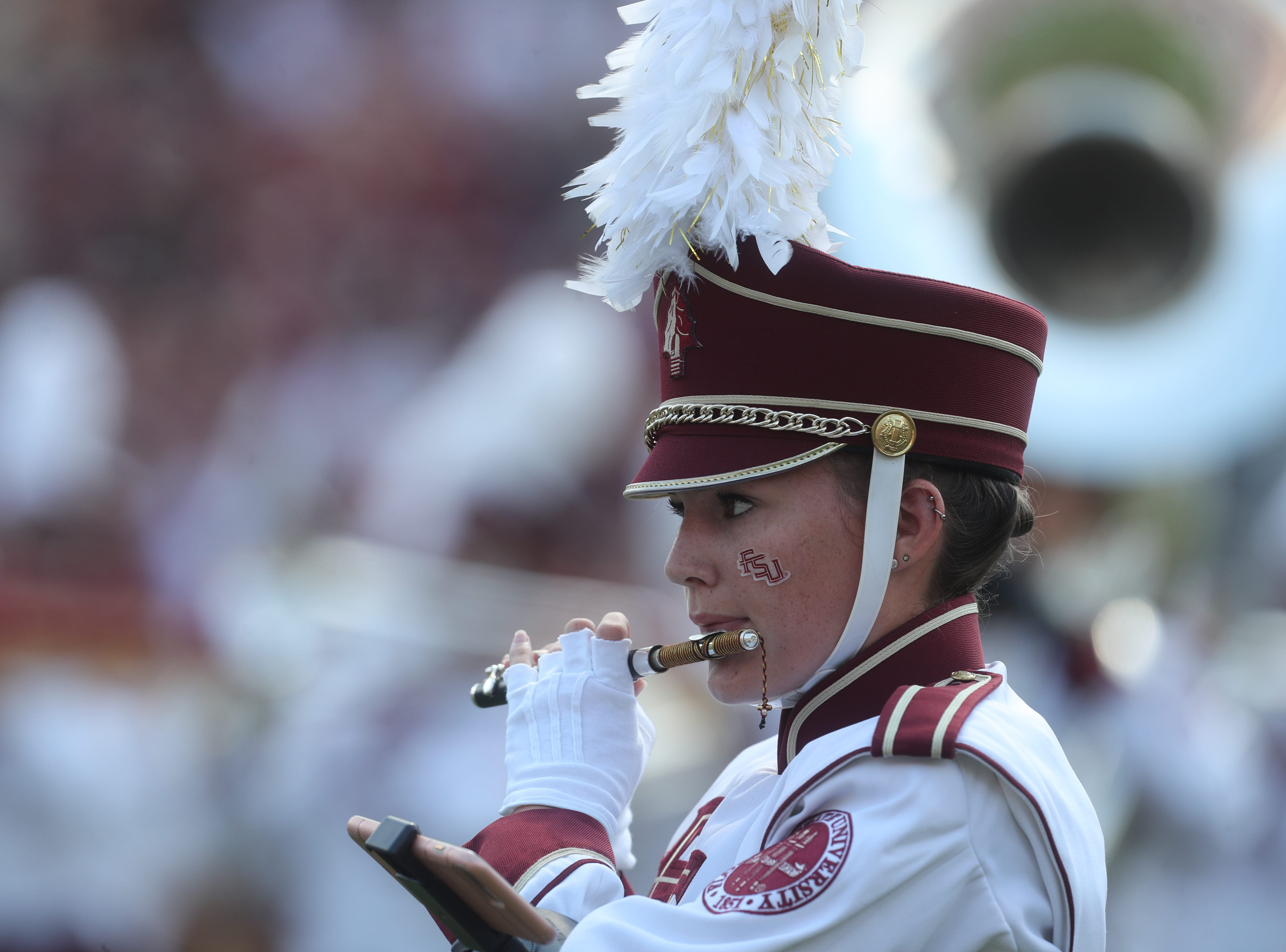 The Florida State University Marching Chiefs  perform before a game between the Florida State University Seminoles and the Northern Illinois University Huskies at Doak S. Campbell Stadium in Tallahassee, Fla. Saturday, September 22, 2018.