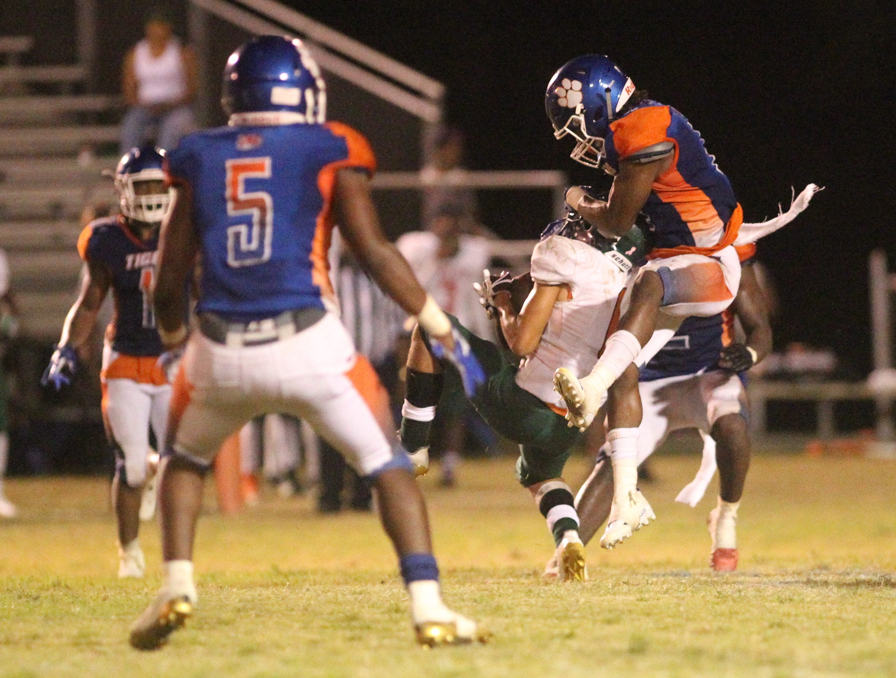 FAMU DRS plays at Jefferson County in a high school football game on Friday, Sept. 21, 2018. The host Tigers won 25-22.
