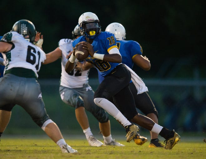 The high school football game between John Carroll Catholic and Pine Crest at John Carroll Catholic High School on Friday, September 21, 2018 in Fort Pierce.