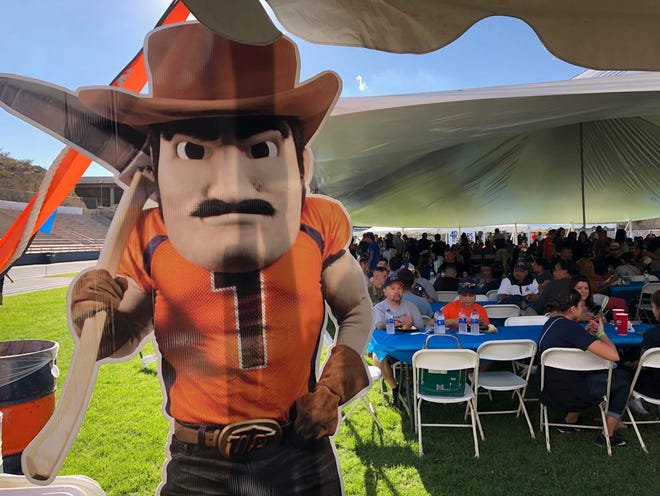 UTEP's Paydirt Pete is shown before the Miners and NMSU game Sept. 22 at Sun Bowl Stadium.