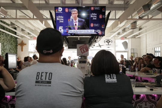 Supporters of El Paso Congressman Beto O'Rourke watched television sets at Sister Esther's bar along N. Mesa Street, as the first of three debates took place on the campus of SMU in Dallas, Texas Friday night. Senator Ted Cruz and O'Rourke filled an hour long debate with their answers on various subjects.