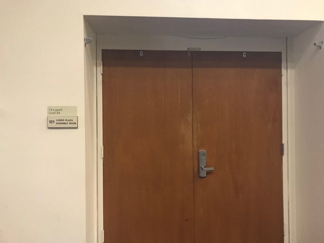 Tracy Towner's closed-door hearing is scheduled in this room on the lower floor of the Hall of Administration in Ventura.
