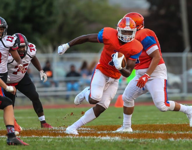 Millville's Solomon Deshields breaks loose for a long run during a game against Kingsway on Sept. 21. The junior wide receiver/linebacker has blossomed into one of the region's top recruits.