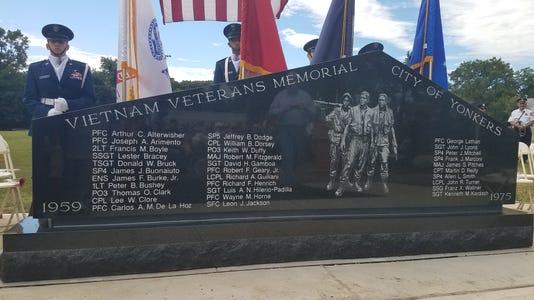 Yonkers unveils Vietnam Monument