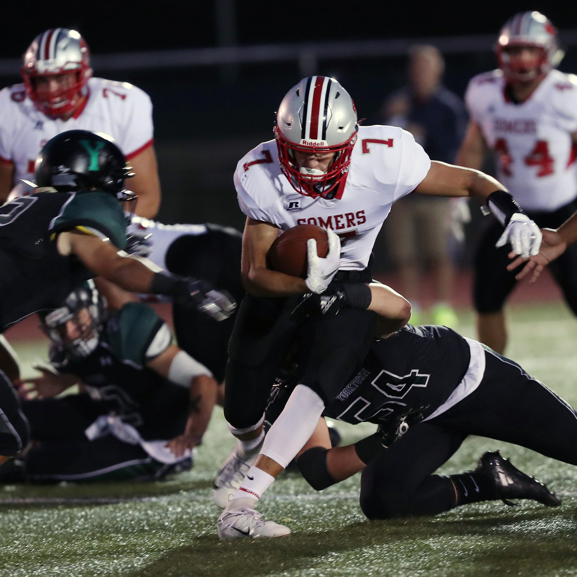 Football: Somers comes back and hands Yorktown its first loss of the season
