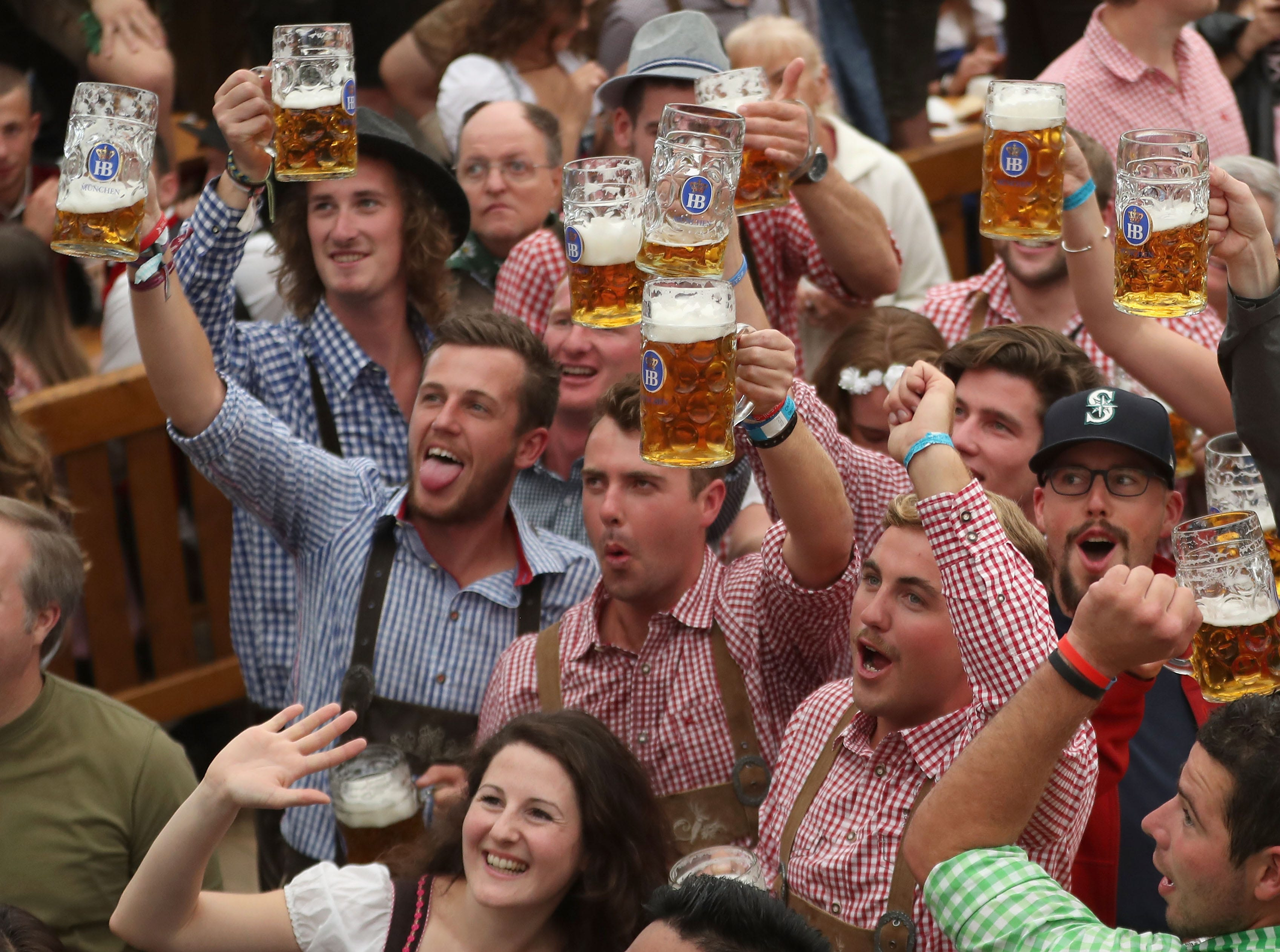 The Oktoberfest lasts until October 7 and is the world's largest beer festival.