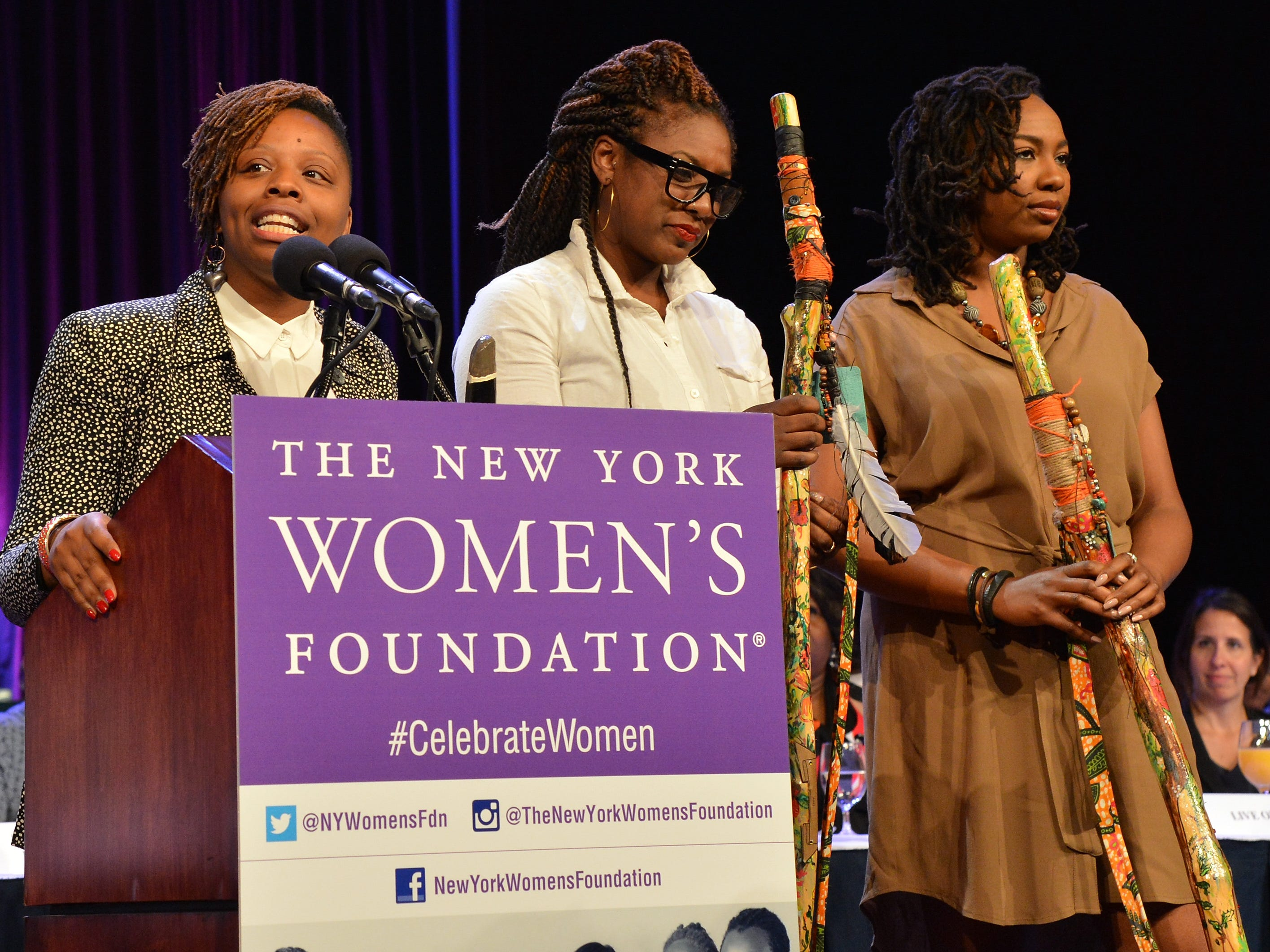 Patrisse Cullors, left, Alicia Garza and Opal Tometi, the founders of Black Lives Matter.