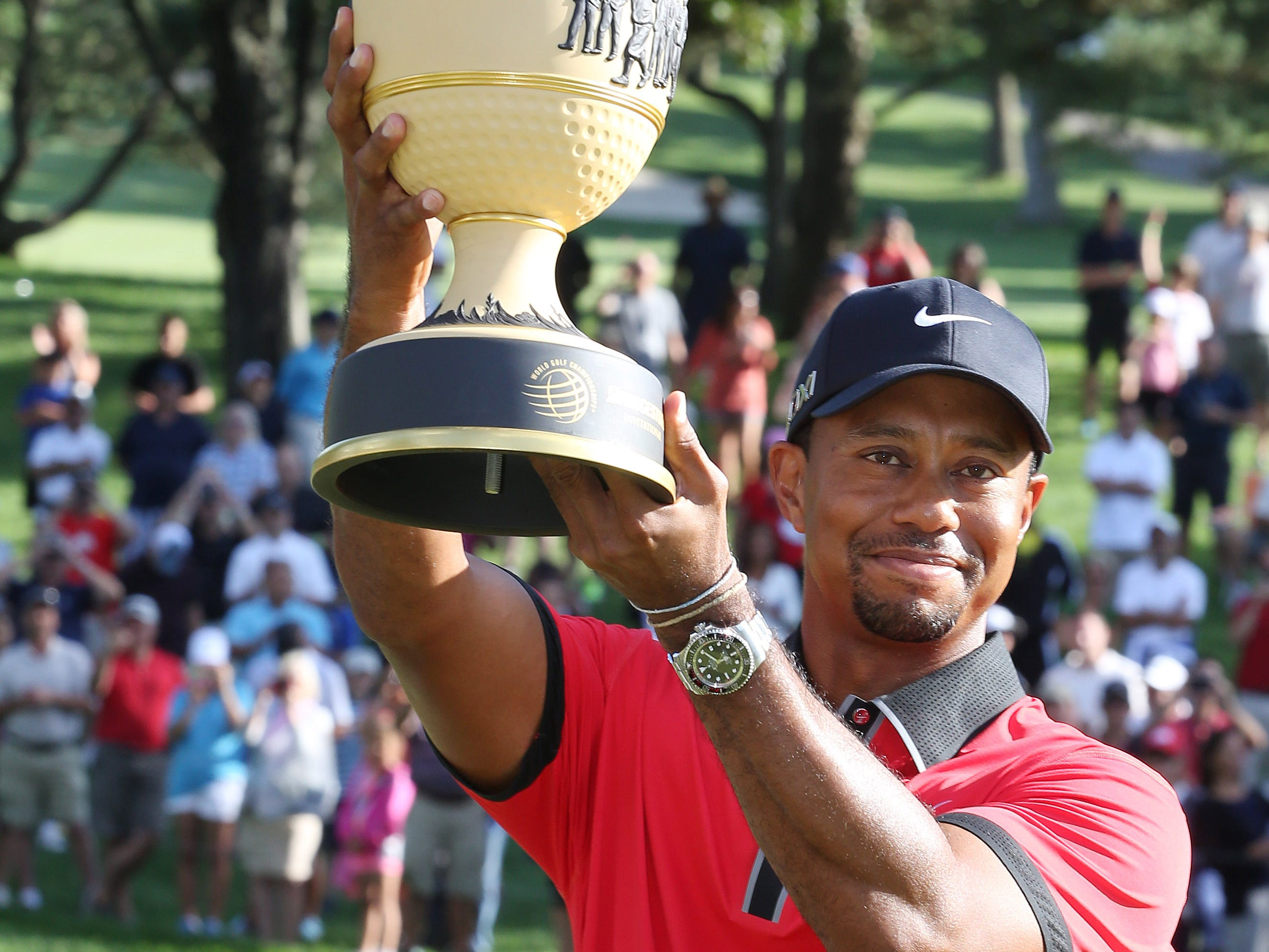 In August 2013,  Tiger Woods won  the World Golf Championships - Bridgestone Invitational at Firestone Country Club. It's his 79th PGA Tour win.
