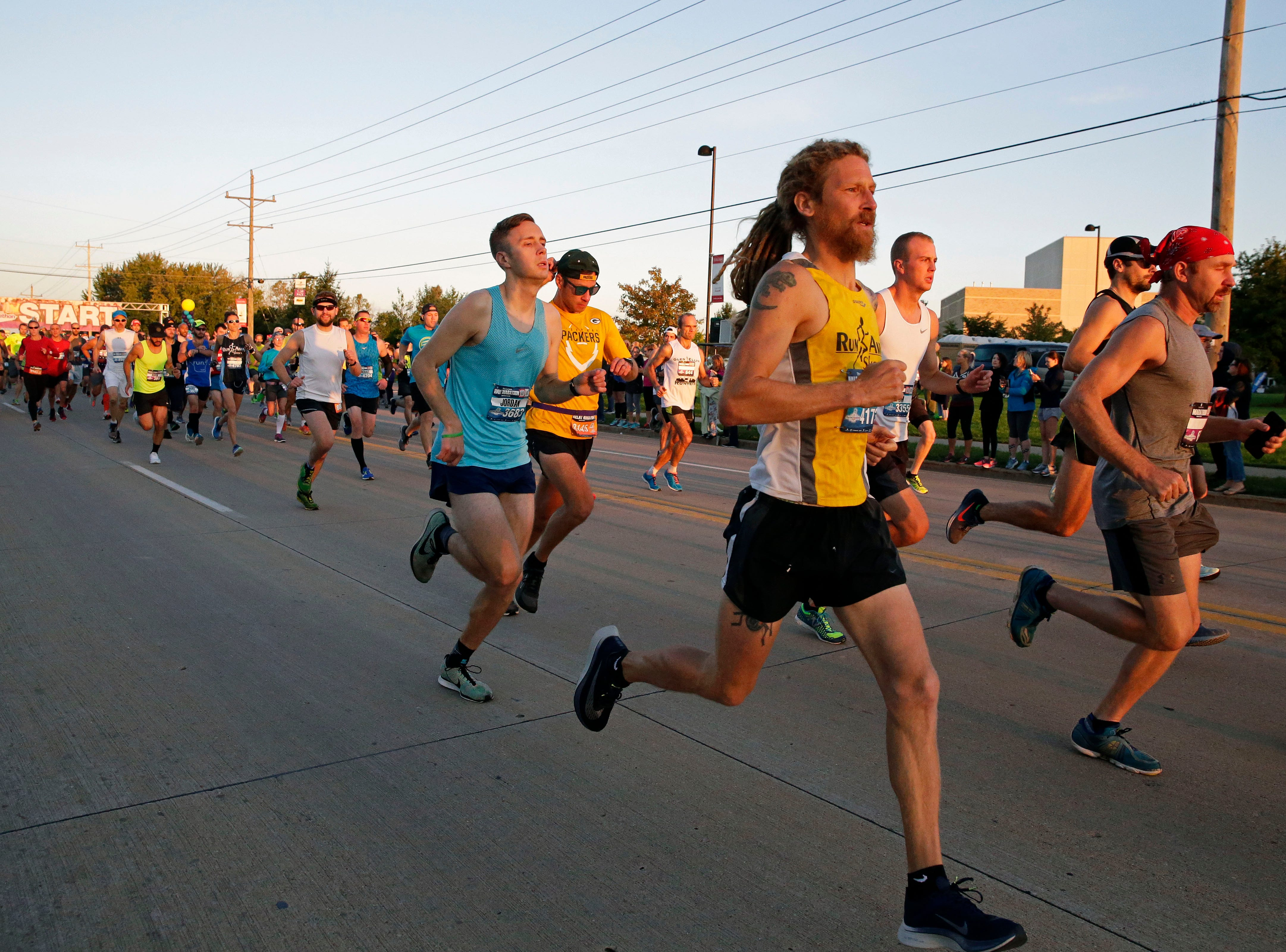 The start of the Community First Fox Cities Marathon takes place Sunday, September 23, 2018, across the Fox Cities.