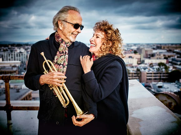 """Herb Alpert said he and his wife, Lani Hall, still enjoy performing live. """"It's an important thing to do, putting out positive energy,"""" he said."""