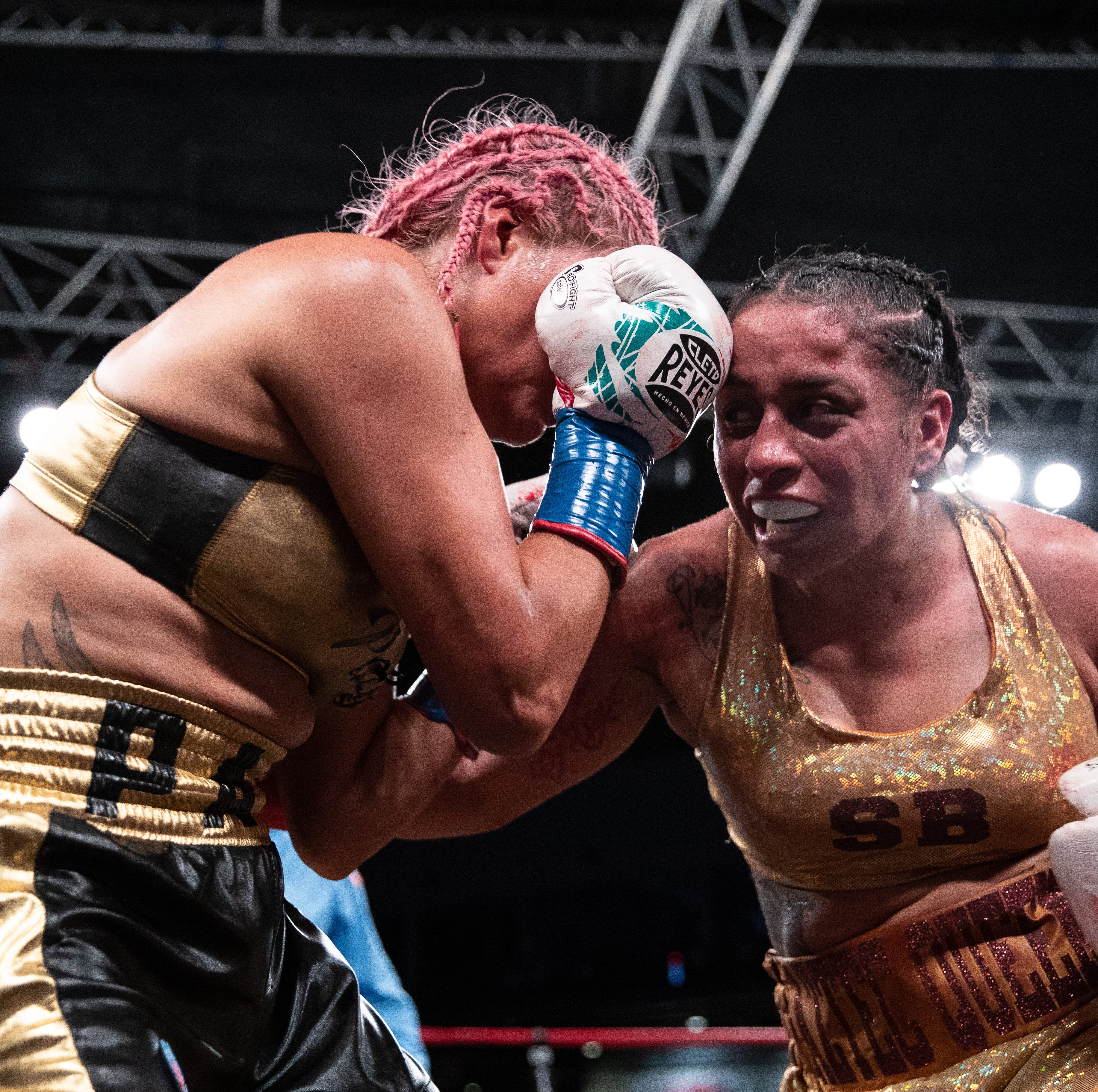 Selina Barrios defends NABF title with unanimous decision in bloody main event