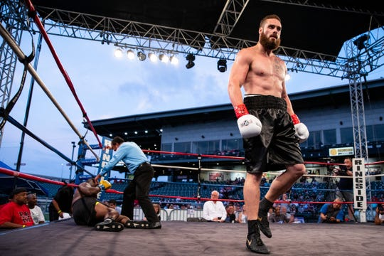 Christian Anderson vs. Jarvis Lee in the Knock it out of the park boxing event at Whataburger Field on Saturday, Sept. 22, 2018.
