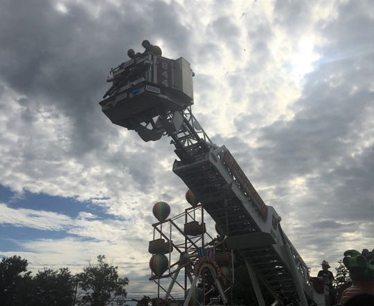 Firefighters responded to a Ferris wheel breakdown at the Camden County Fair Saturday.