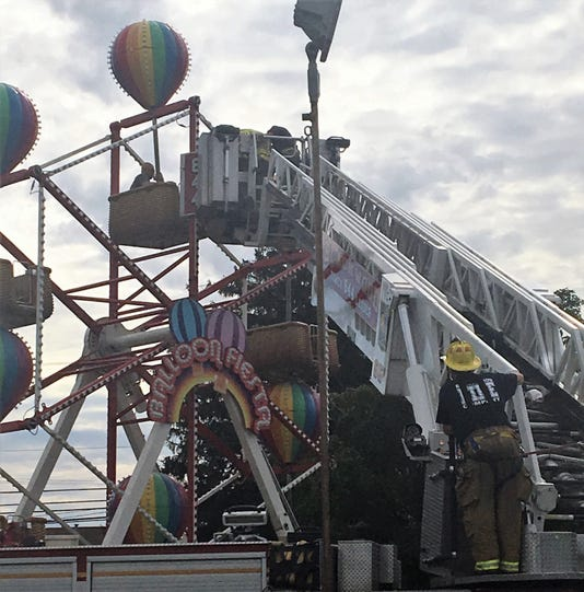 Firefighters at Camden County Fair
