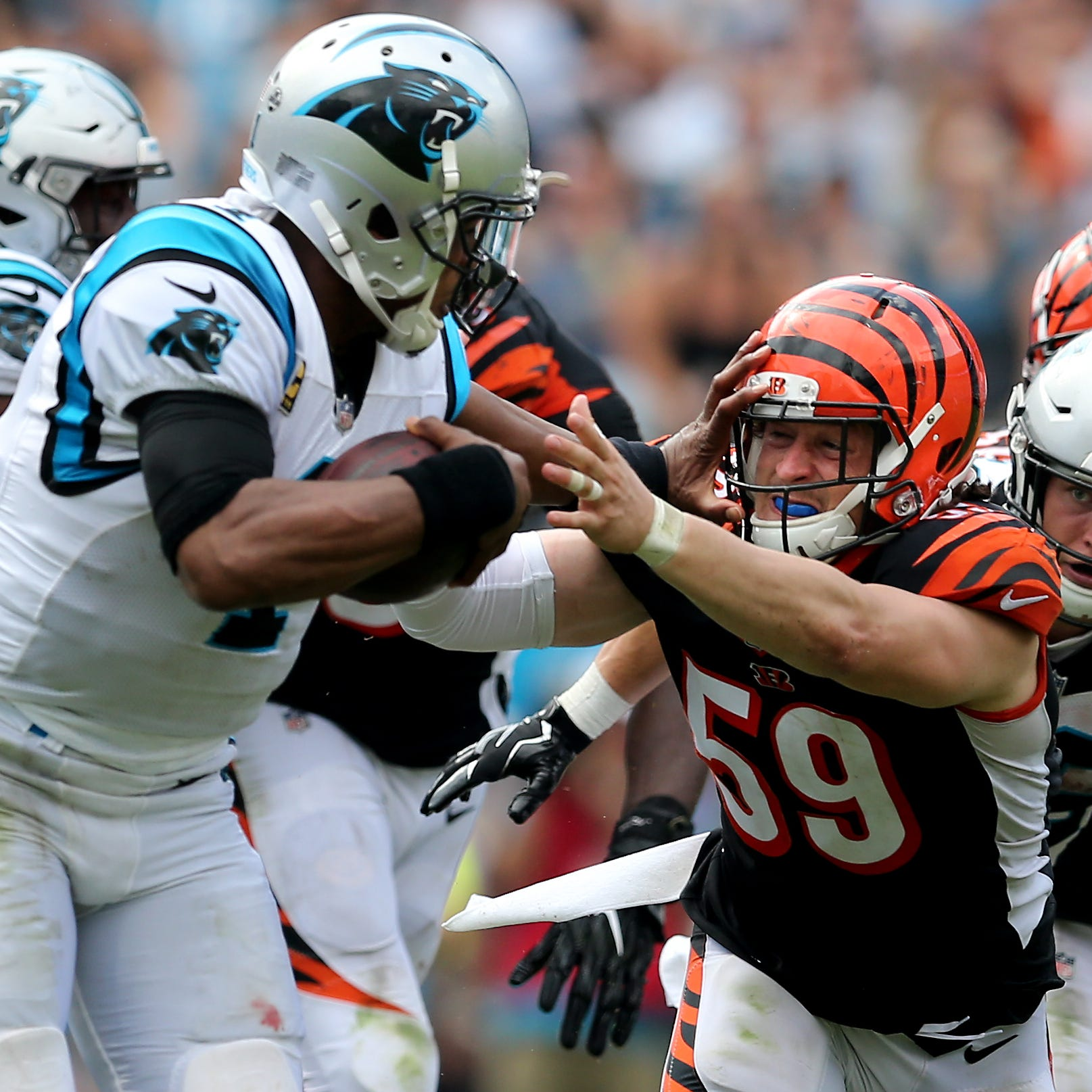 Heat building on Cincinnati Bengals defense after getting run over by Carolina Panthers