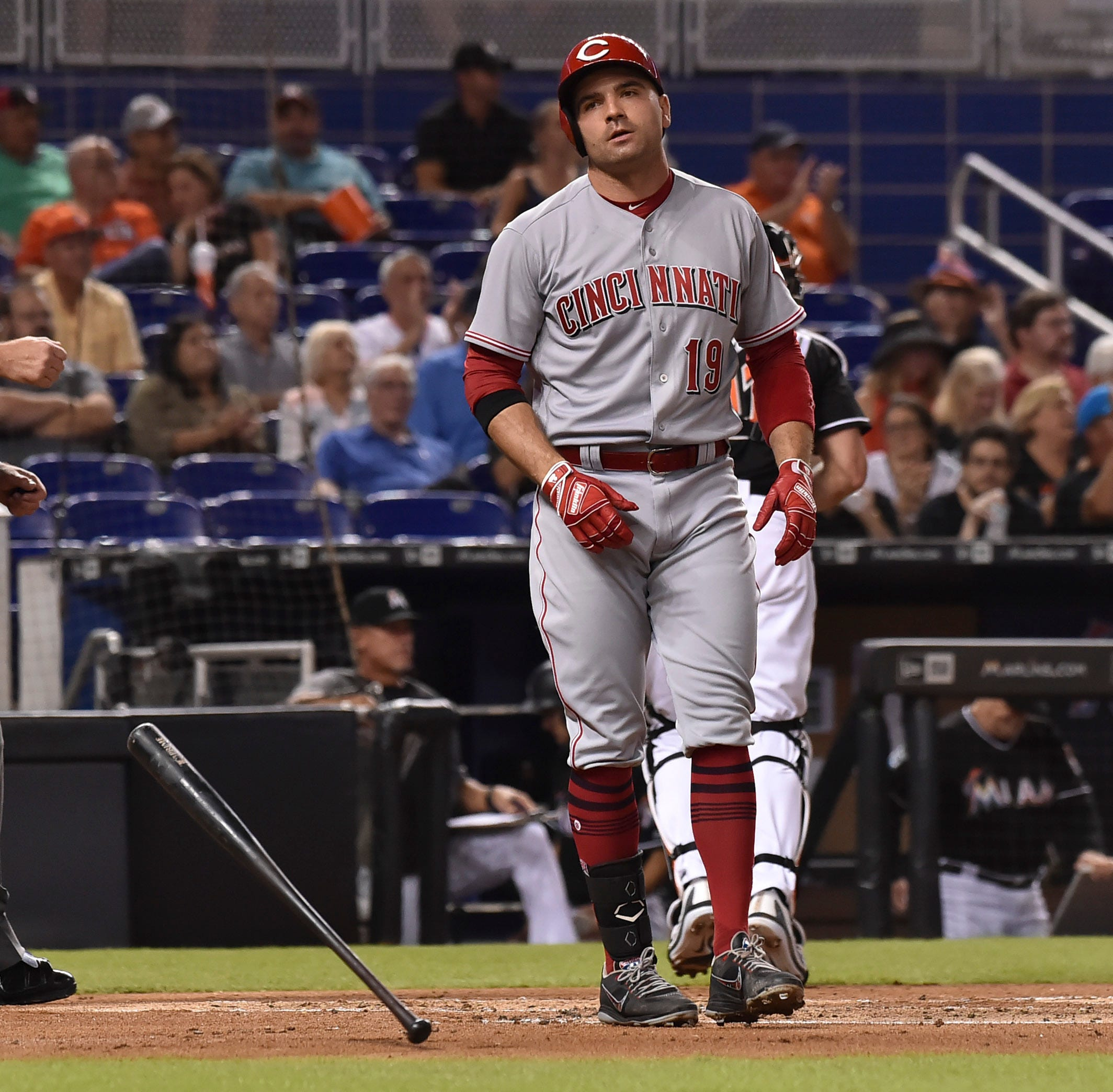 Cincinnati Reds lineup continues slump in 5-1 loss to Miami Marlins