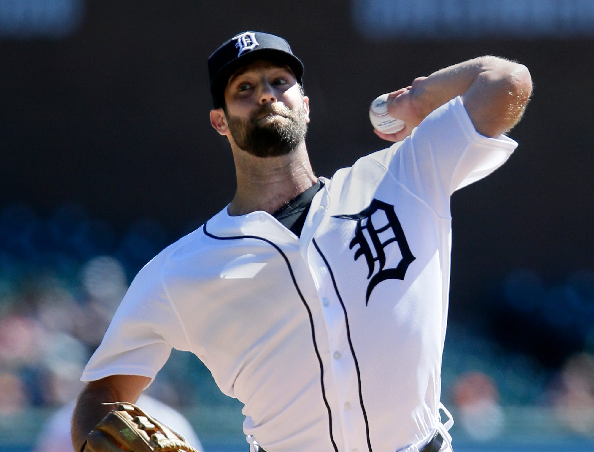 Tigers pitcher Daniel Norris throws during the second inning against the Royals on Sunday, Sept. 23, 2018, at Comerica Park.