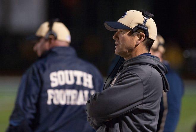 Grosse Pointe South head football coach Tim Brandon.
