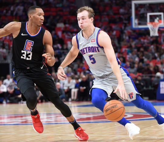 Pistons guard Luke Kennard could handle the ball more this season.